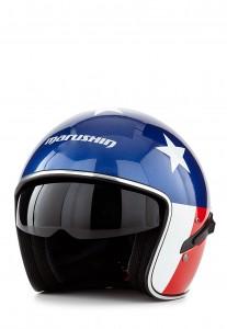 Marushin Motorradhelm CB139 Rider weiß/blau/rot