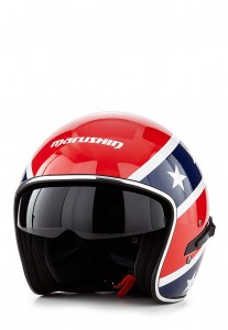 Marushin Motorradhelm CB139 Rebel rot/blau/weiß - Größe M