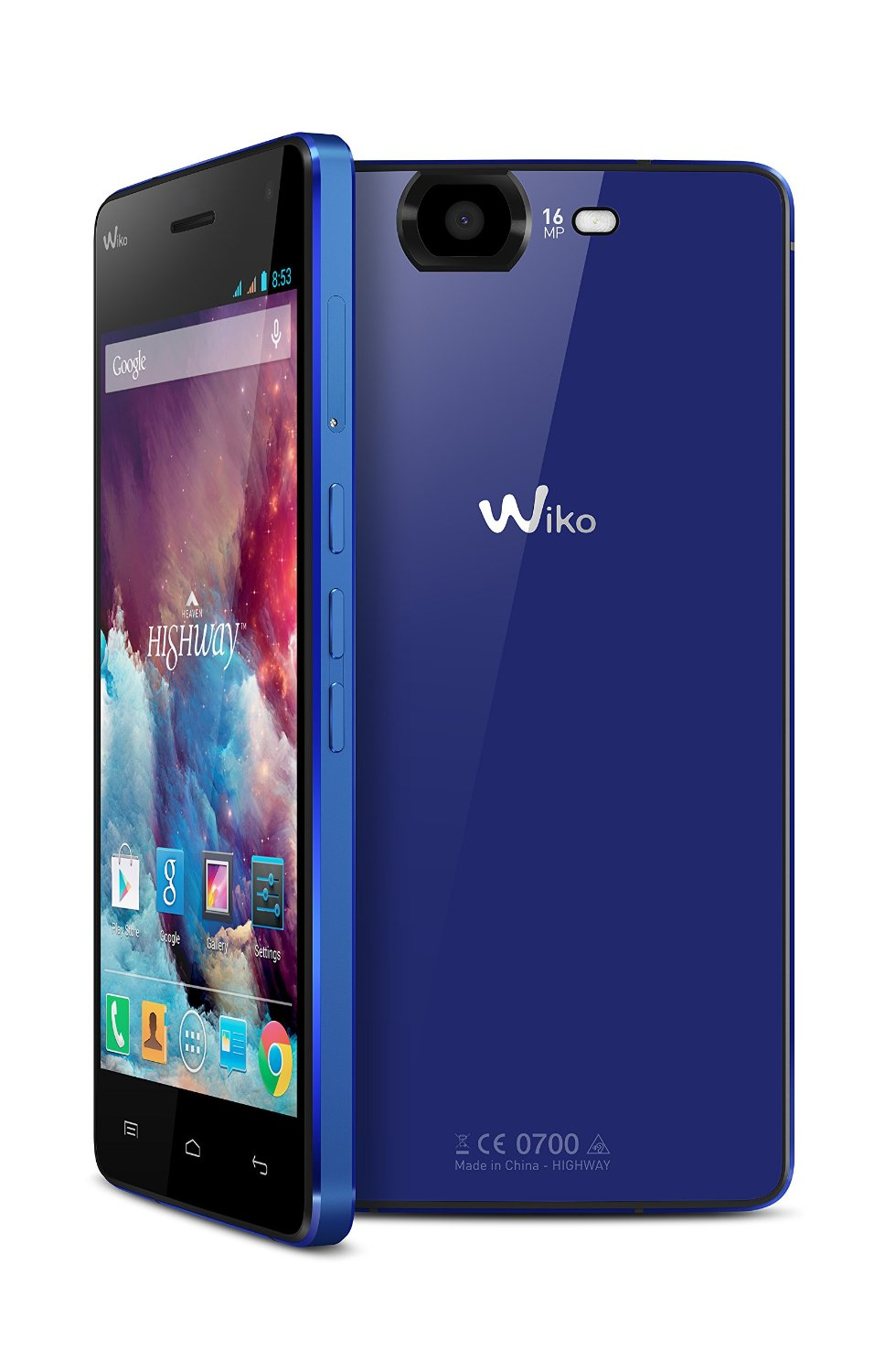 wiko highway dual sim android smartphone 16gb in blau. Black Bedroom Furniture Sets. Home Design Ideas