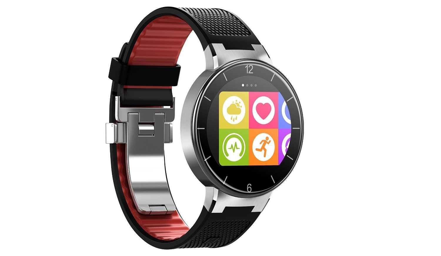 Alcatel onetouch Watch SM02 Smartwatch in schwarz-rot ...