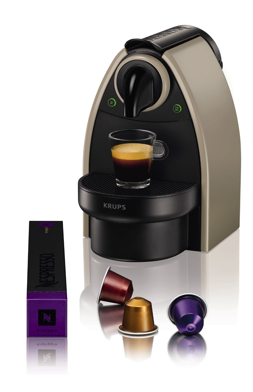 krups xn 2140 10 nespresso essenza kaffeemaschine in taupe. Black Bedroom Furniture Sets. Home Design Ideas