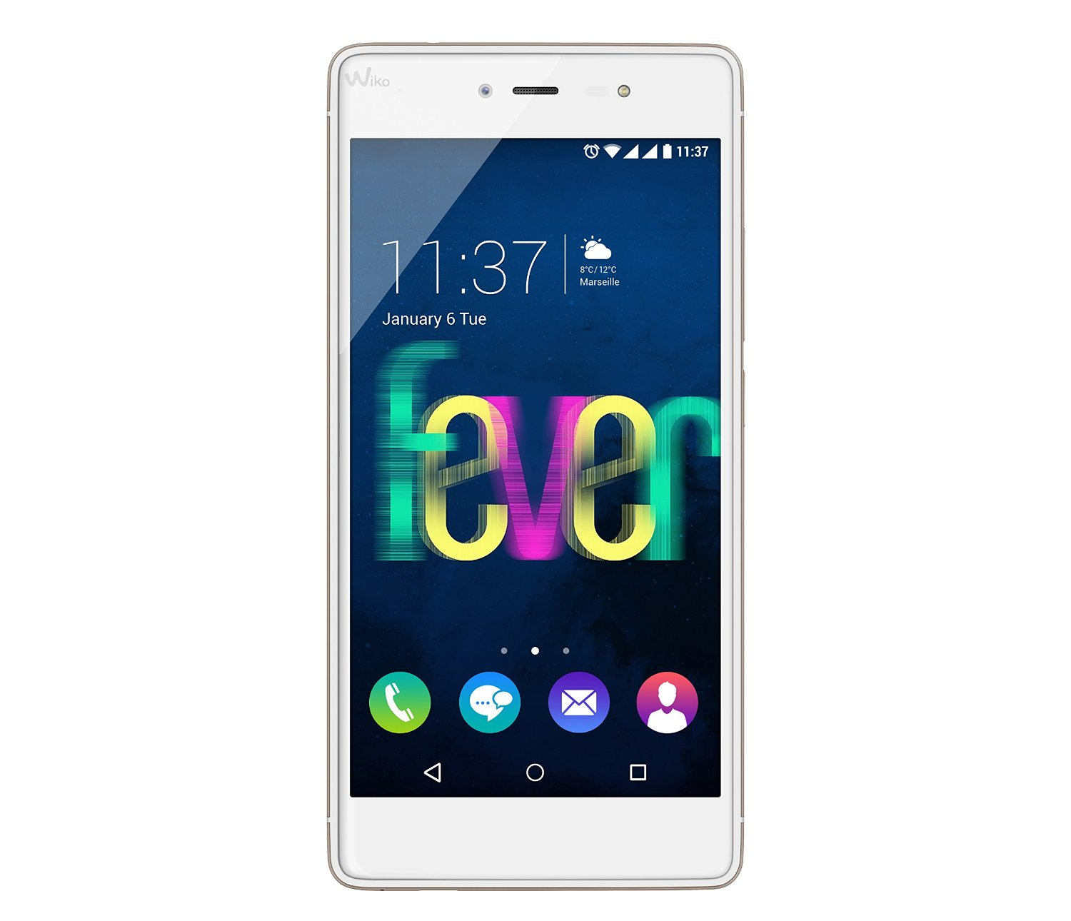 wiko fever 4g dual sim lte android smartphone in weiss. Black Bedroom Furniture Sets. Home Design Ideas