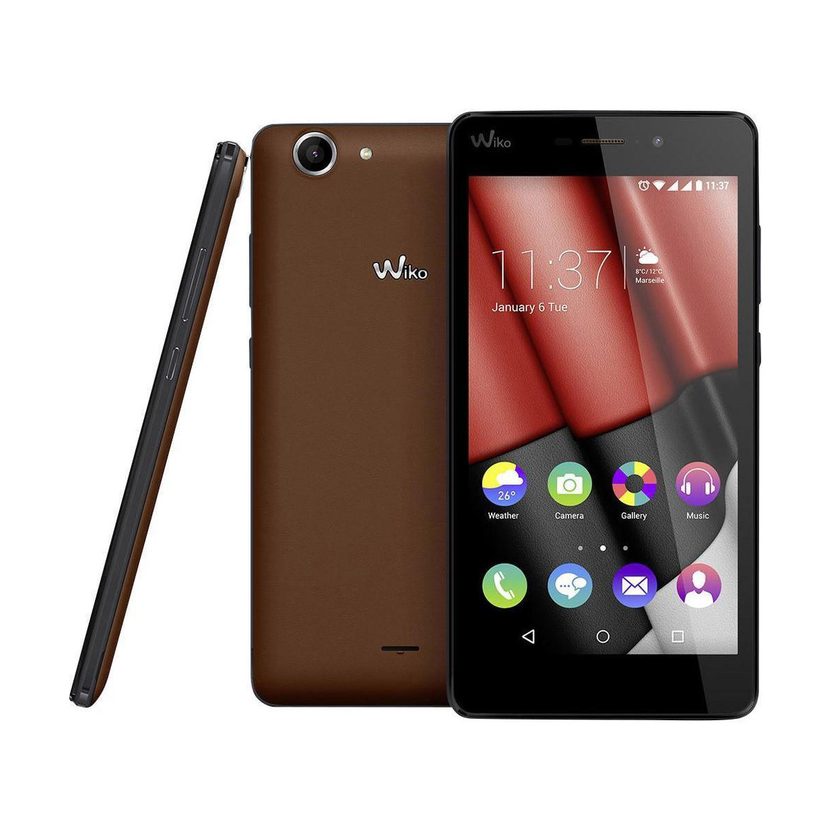 wiko pulp 4g lte dual sim android smartphone mit 16gb in chocolate online g nstig bestellen. Black Bedroom Furniture Sets. Home Design Ideas