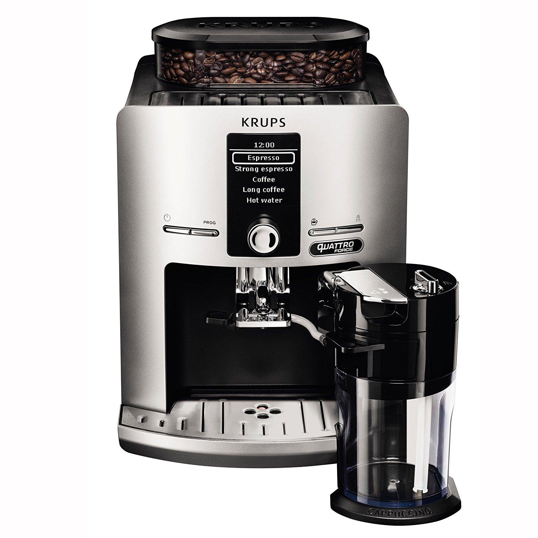 krups ea82fe kaffeevollautomat latt espress quattro force in silber neu ovp ebay. Black Bedroom Furniture Sets. Home Design Ideas